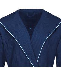 Bugatti Herrenbademantel »Tizian«, , mit Baumwollbiese - Blau