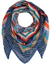 Codello XL-Tuch aus Baumwolle und Modal mit Seide - Blau