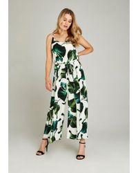 Apricot Jumpsuit »Banana Leaf Print Jumpsuit« im Culotte-Look - Weiß