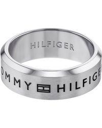 Tommy Hilfiger Fingerring »FINE CORE, 2790066F, G, H«, mit Emaille - Mettallic