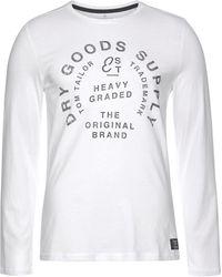 Tom Tailor Print-Shirt mit großem Print - Weiß
