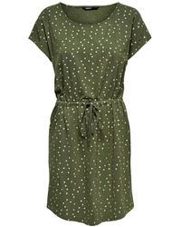 ONLY Jerseykleid - Grün