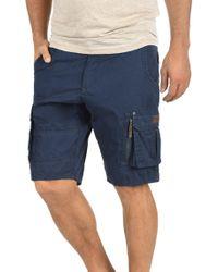Blend Cargoshorts »Gaara« kurze Hose mit zusätzlicher Reißverschlusstasche - Blau