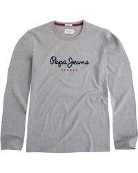Pepe Jeans Langarmshirt - Grau