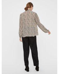 Vero Moda Florale Schluppen Bluse - Mehrfarbig