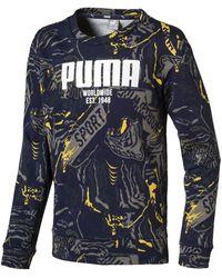 PUMA Sweater »Alpha Graphic Jungen Langarmshirt« - Blau