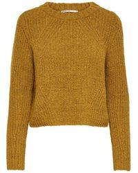 ONLY Langärmeliger Pullover - Gelb