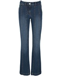 Laura Kent Bootcut-Jeans mit dekorativen Teilungsnähten - Blau