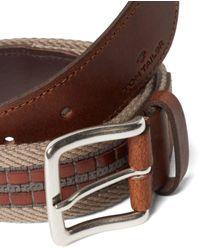 Tom Tailor Stoffgürtel »Gürtel mit Stoff-und Lederbesatz« - Braun