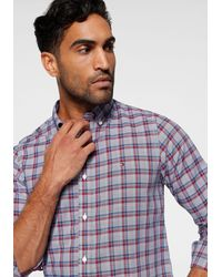 Tommy Hilfiger Langarmhemd »SLIM MULTI PRINCE OF WALES SHIRT« - Rot
