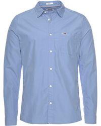 Tommy Hilfiger Langarmhemd »TJM SOLID POPLIN SHIRT« - Blau