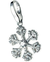 GIORGIO MARTELLO MILANO Charm-Einhänger »Eiskristall mit Zirkonia« - Mehrfarbig