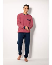 Schiesser Pyjama Met Borstzak - Rood