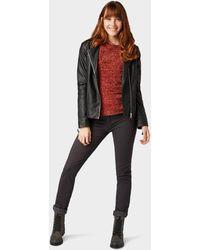 Tom Tailor Strickpullover »Pullover mit Streifen-Struktur« - Rot
