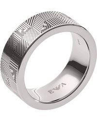 Emporio Armani Fingerring »EGS2508040«, mit Emaille und Epoxidharz - Mehrfarbig