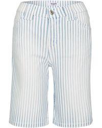 ANGELS Jeansshorts,Short' mit Allover-Streifen - Blau