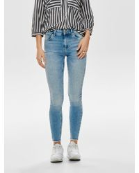 ONLY Blush Mid Ankle Skinny Fit Jeans - Blau