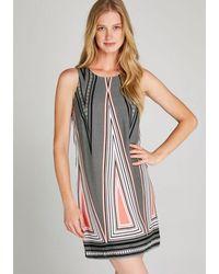 Apricot Etuikleid »Aztec Triangle Shift Dress« im Mustermix - Mehrfarbig