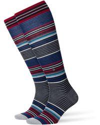 Burlington Kniestrümpfe »Stripe« (1 Paar) One size fits all (Gr. 40-46) - Schwarz