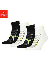 PUMA Korte Sokken Met Trendy Logo (4 Paar) - Zwart