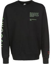 Nike Sweatshirt »Swoosh« - Schwarz