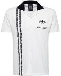 KingKerosin Overhemd Met Korte Mouwen Bowling Racing - Wit