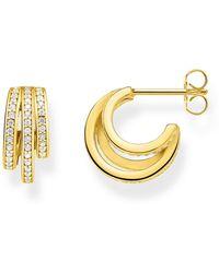 Thomas Sabo Paar Creolen »Ringe gold, CR652-414-14«, mit Zirkonia - Mettallic