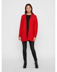 Vero Moda Offener Strickjacke - Rot