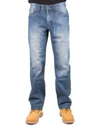 Caterpillar 5-Pocket-Jeans »CAT Lifestyle Herren Trax Original Otis Faded Jeans« - Blau