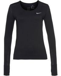 Nike Laufshirt W Nk Infinite Top Longsleeves - Schwarz