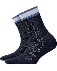 Burlington Socken Happy New Year (1 Paar) - Blau