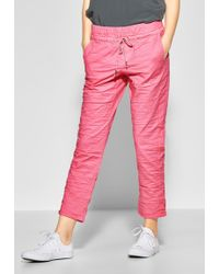 Street One Jogger Pants - Pink