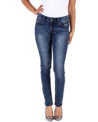 Blue Monkey Slim-fit-Jeans »STACY« mit Glitzersteinen - Blau