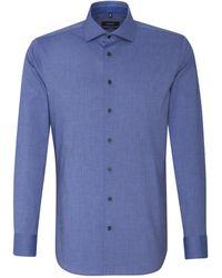Seidensticker - Business Hemd Tailored Extra langer Arm Kentkragen Uni - Lyst
