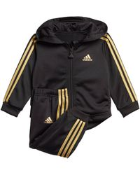 adidas Originals Trainingsanzug »I SHINY FULLZIP HOOD JOGGER« (Set, 2-tlg) - Schwarz
