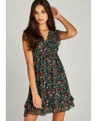 Apricot Druckkleid »Folk Floral Ditsy Dress« im Lagenlook - Mehrfarbig