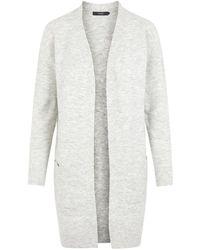 Vero Moda Wollmischfaser Strick-Cardigan - Grau