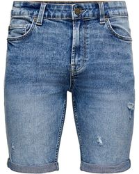 Only & Sons Bermudas - Blau