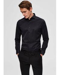 SELECTED Overhemd Met Lange Mouwen - Zwart