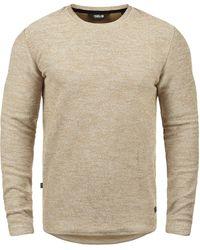 Solid Rundhalspullover »Gulliver« Sweatpullover aus Flock-Sweat - Weiß