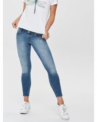 ONLY Dylan low ankle push up Skinny Fit Jeans - Blau