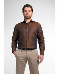 Eterna Nu 20% Korting: Businessoverhemd Comfort - Bruin