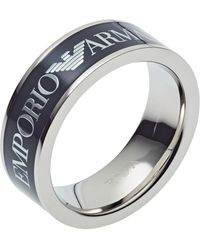 Emporio Armani Fingerring »EGS2607040«, mit Epoxidharz - Mehrfarbig