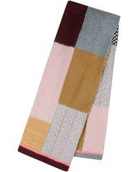 Codello Patchwork-Schal aus Wolle mit Kaschmir - Braun