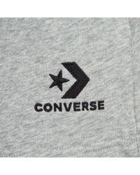 Converse Shorts Star Chevron Embroidered - Grau