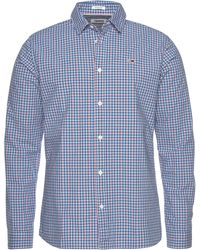Tommy Hilfiger Hemd »TJM ESSENTIAL MULTI CHECK SHIRT« - Blau