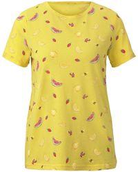 Tom Tailor T-Shirt »T-Shirt mit Print« - Gelb