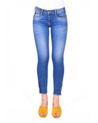 Le Temps Des Cerises Bequeme Jeans »PULPC« in tollem Design - Blau