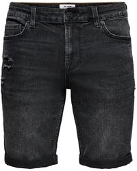 Only & Sons Bermudas - Schwarz