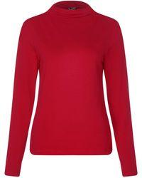 Street One Langarmshirt mit Stehkragen - Rot